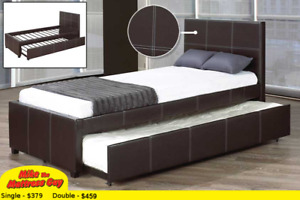 SINGLE OR DOUBLE BED WITH TRUNDLE FOR TWO -  MIKE'S BEST PRICE!