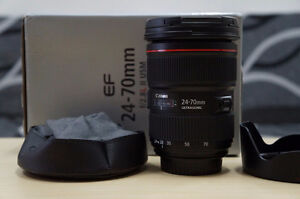 new canon EF 24 70 2.8 L II USM standard zoom lens in box