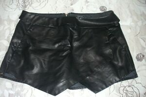 faux-leather skort