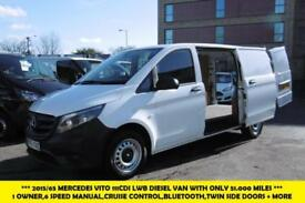 2015 MERCEDES VITO 111 CDI LWB DIESEL VAN WITH ONLY 51.000 MILES,1 OWNER,CRUISE