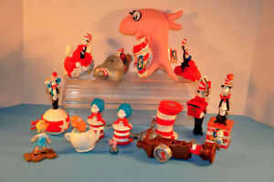 Lot Dr Seuss CAT IN THE HAT Figures Toys Fish Plush