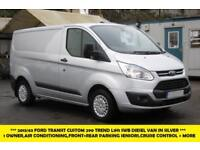 2013 FORD TRANSIT CUSTOM 290 TREND L1H1 SWB IN SILVER WITH AIR CONDITIONING,ELEC