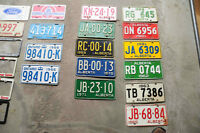 OLD LICENSE PLATES FROM AB, BC, ONT, ETC