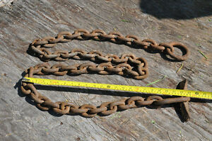 Old Blacksmith chains and hooks