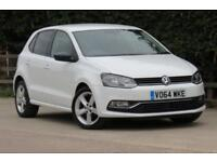 VOLKSWAGEN POLO 1.4 SEL TDI BLUEMOTION 5 DOOR 89 BHP DIESEL 2014 64 WHITE