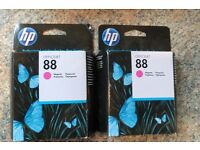 FREE 2 x HP Ink 88 Magenta, out of date since Feb 2015, not sure if they are still any good
