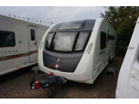 2014 STERLING ECCLES QUARTZ 4 BERTH CARAVAN - ISLAND BED - ALDE - END WASH