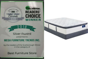 Boxing Day Sale Euro Top Queen Mattress and Double Size Set