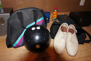 Men's Bowling Ball and Shoes