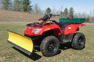 Arctic Cat 500 with 5' Poly Plow and winch