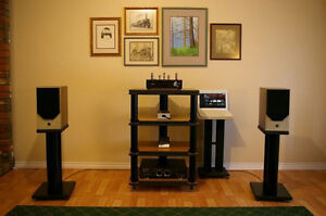 Matching Audio Rack and Speaker Stands