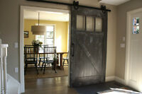 ** 2 in Stock** Reclaimed Wood Barn Doors By LIKEN Woodworks