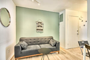 Fully furnished apts in Le Plateau internet incl.