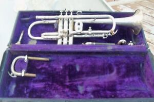 Vintage Boosey and Hawkes Trumpet in original case