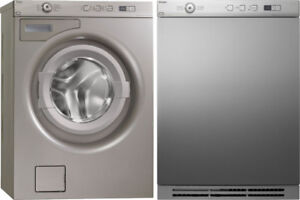 """Asko 24"""" Stackable Front Load Washer & Front Load Electric Dryer"""