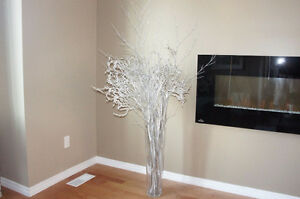Decorative Silver and White Branches