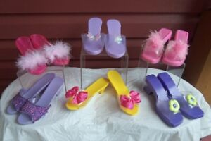 8 Pairs of Girls play or dress up shoes--great for pretend play!