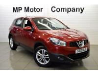 2012 12 NISSAN QASHQAI 1.6 ACENTA 5D 117 BHP 5DR 5SP HATCH, RED, 59,000M, SH,