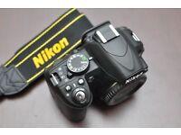 Nikon d3100 body Dslr video camera