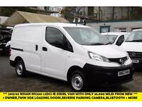 2013 NISSAN NV200 1.5 DCI SE WITH ONLY 35.000 MILES,1 OWNER,5 SPEED MANUAL,REVER