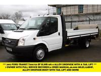 2012 FORD TRANSIT 350/125 DRW EF 13FT 6 ALLOY DROPSIDE WITH TAIL LIFT DIESEL VAN