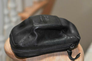 Leica leather camera case - black - lined - very good condition