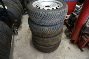 4-BMW RIMS AND TIRES 215 50 17 WINTER