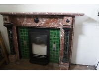 Quality antique rouge royal marble fireplace