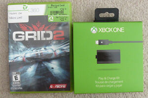 xbox one charge kit & Grid 2 racing game