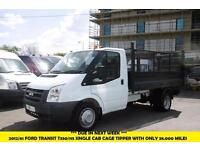 2012 FORD TRANSIT 350/115 SINGLE CAB CAGED TIPPER WITH ONLY 38,000 MILES,1 OWNER