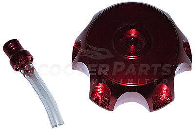 CNC Billet Fuel Gas Tank Cap Red Part For 80cc Honda CRF80F XR80R Dirt Pit Bikes