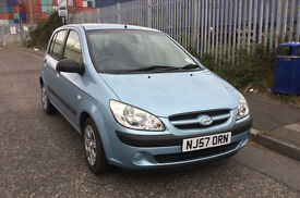 Hyundai Getz car low mileage
