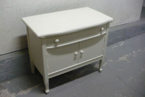 Antique White Cabinet Used Painted Furniture Wood CLEAN Vintage