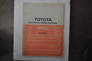 1984 Toyota Tercel Electrical Manual - Factory