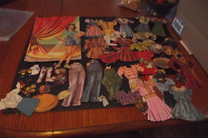 Rare VINTAGE 1940's Jane Withers Cut Out Paper Dolls