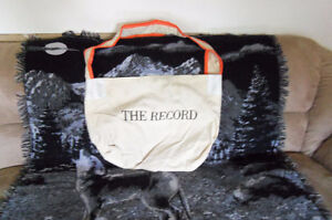 Record paper delivery bag