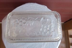 Vintage Glass Refrigerator Dish with Embossed lid!