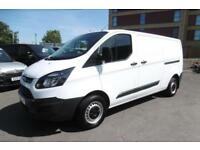 2014 FORD TRANSIT CUSTOM 290 L2H1 LWB DIESEL VAN IN WHITE 1 OWNER FROM NEW WITH