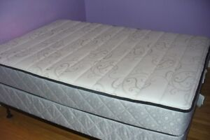 double/full box spring & mattress (nearly new)