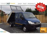 Iveco Daily ALLOY SIDED DOUBLE REAR WHEEL TIPPER 7 SEATER ONLY 80K MILES TOW BAR