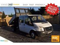 Ford Transit NO VAT 115 BHP 6 SPEED D/C TIPPER FACTORY ONE STOP ALLOY BODY 350 D