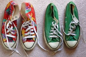 Two Vintage Pairs of Genuine Converse All-Stars - Made in USA London Ontario image 1