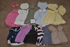 Girl Clothes 6-9 Month Lot