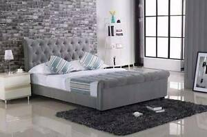 【Brand New】Empire Queen/King size fabric Bed frame Nunawading Whitehorse Area Preview