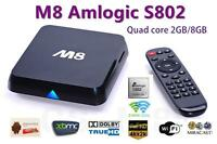 M8 XBMC KODI  TV Box Amlogi S802 4K-4 Core Android 4.4 Kitkat M8