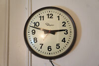 Vintage Ingraham wall clock, old high school style City of Montréal Greater Montréal Preview