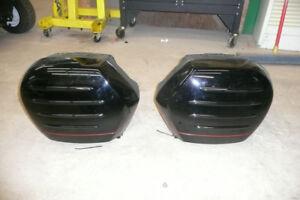 Kawasaki Concours saddlebags, stock muffler, windshield