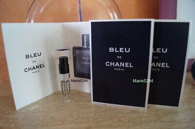 CHANEL  BLEU  3 Minis vapo spray EAU de TOILETTE    Echantillons  NEUFS  Récents