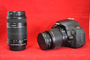 Canon T3i w 18-55 IS and 55-250 IS Lens, 4754 Sh. Count, Bag, SD