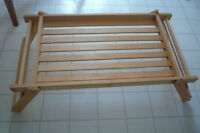 Wooden Bed Tray with Folding Legs